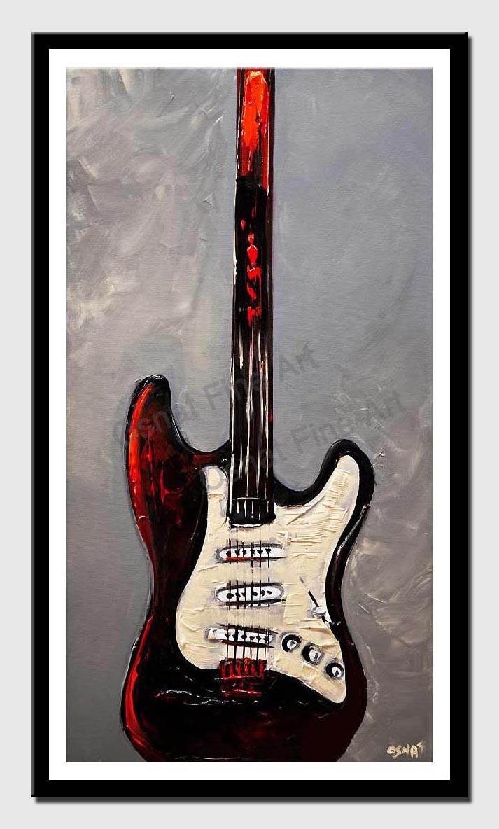 canvas print of guitar painting
