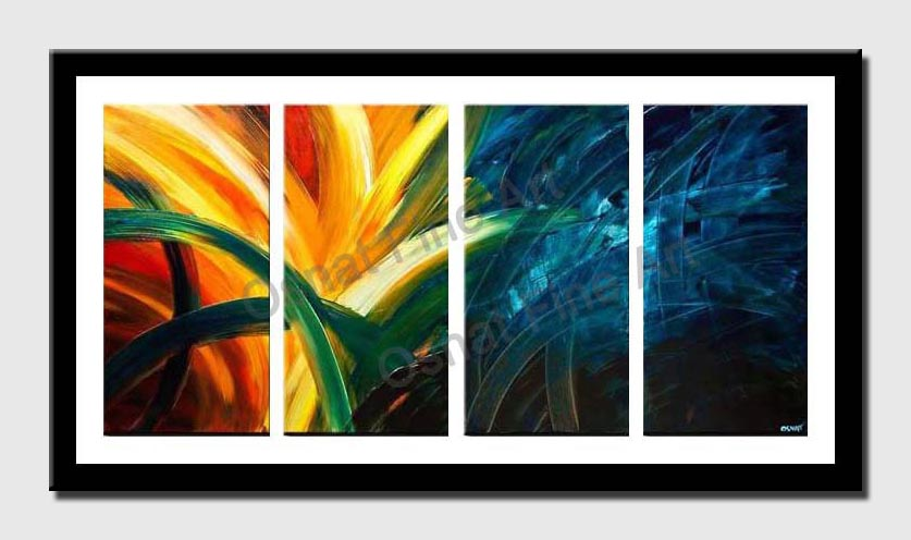 canvas print of colorful abstract art home decor