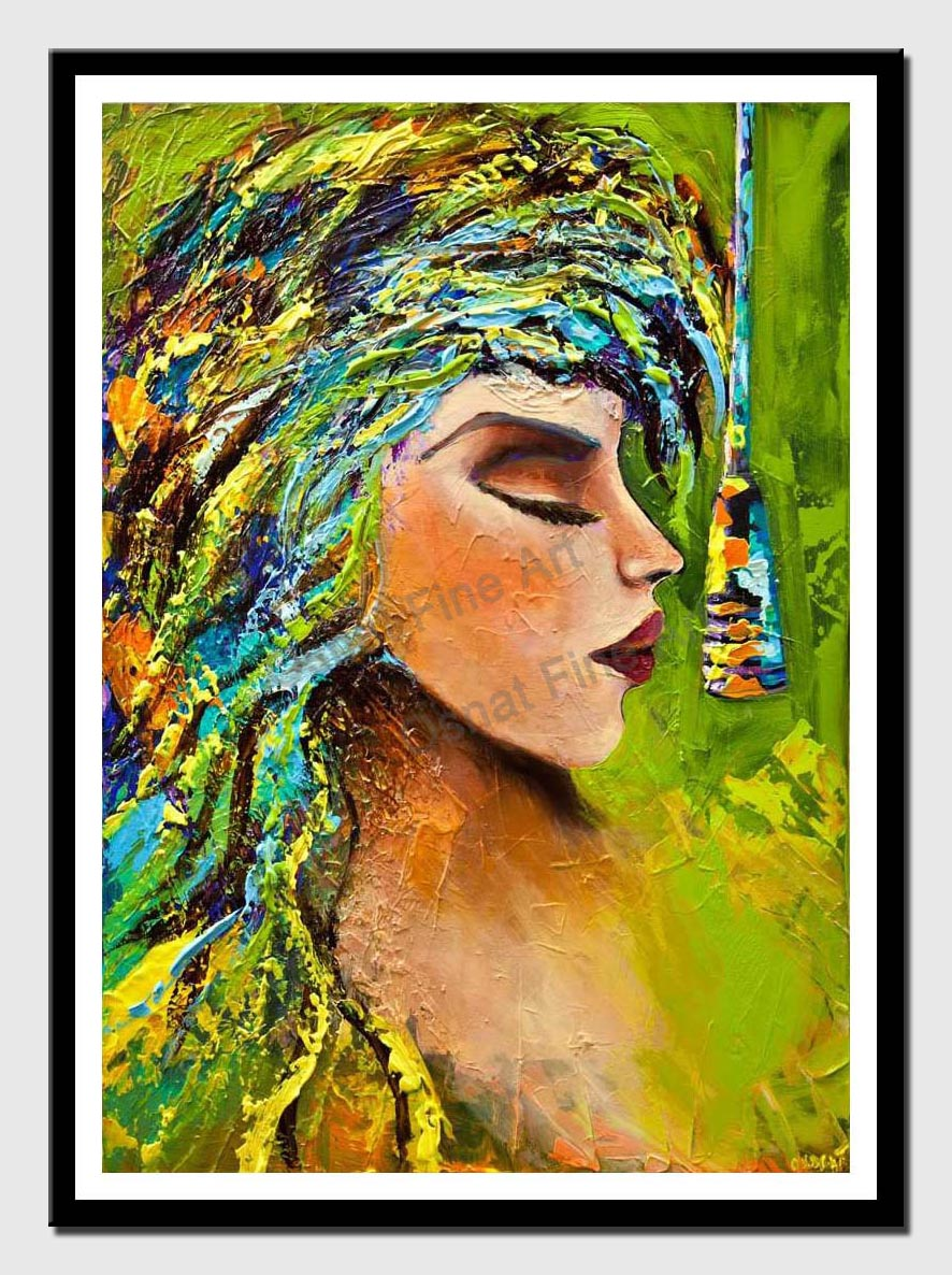 rock and roll painting colorful portrait painting modern palette knife painting