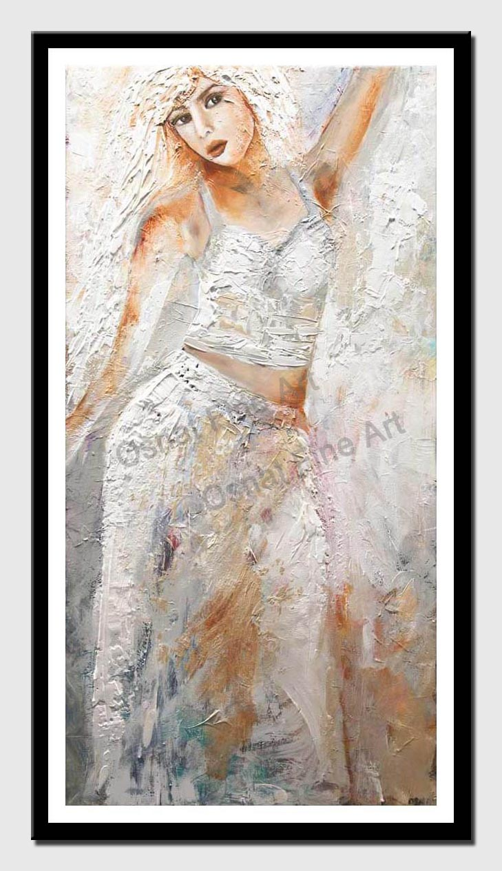 canvas print of abstract woman figure painting