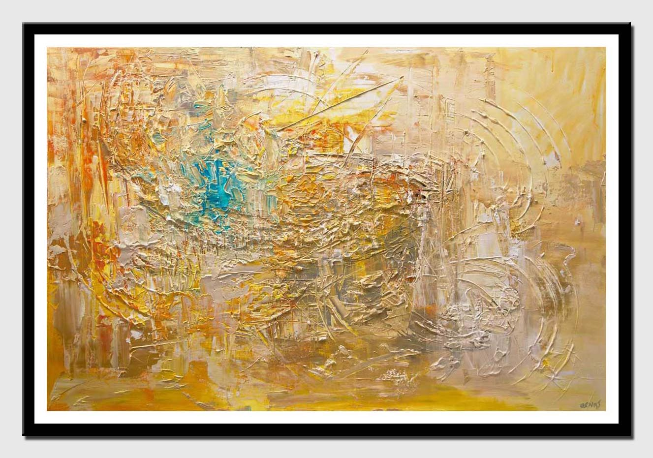 canvas print of huge textured abstract art