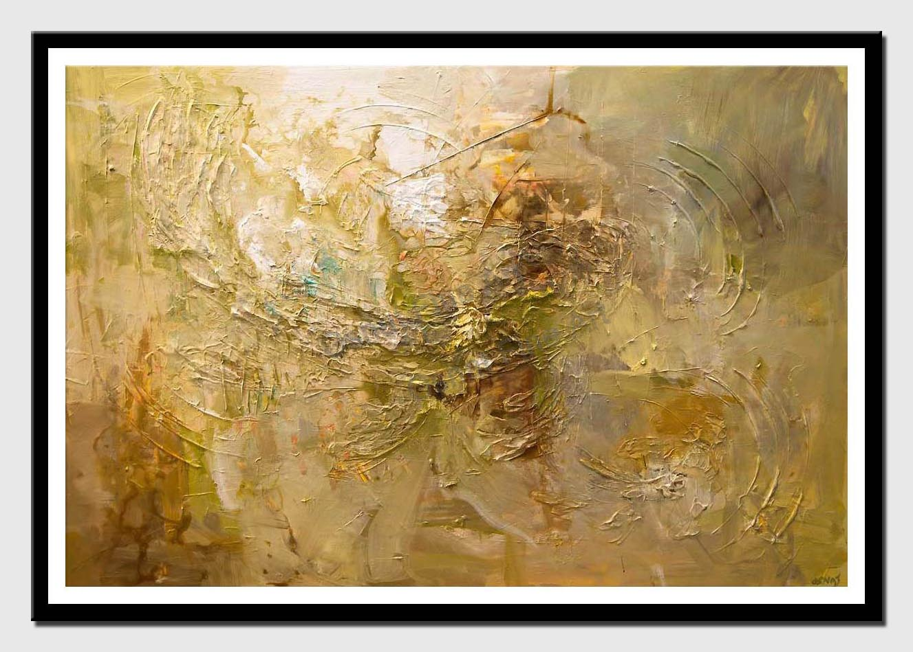 canvas print of contemporary textured abstract art