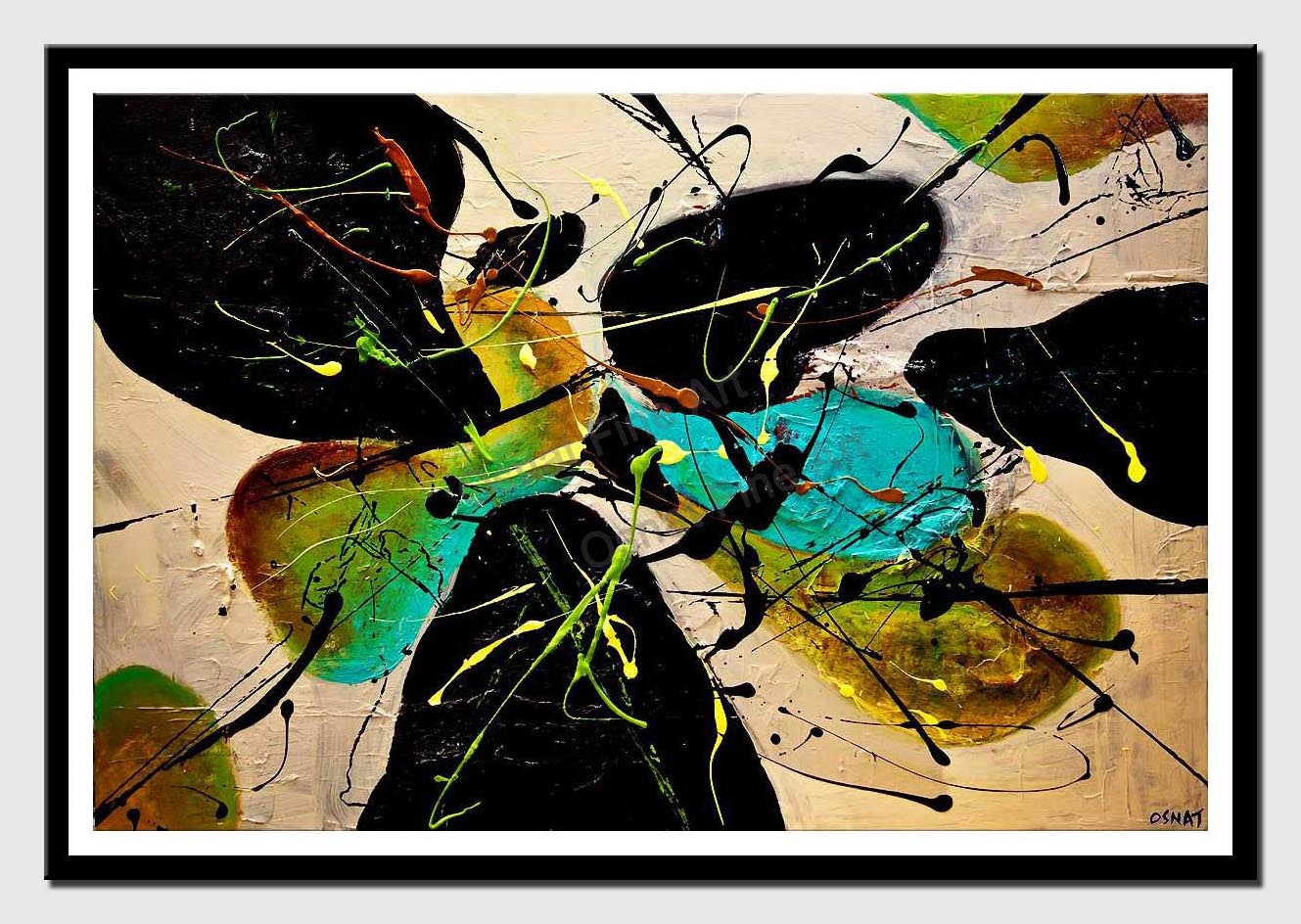 canvas print of modern textured abstract art