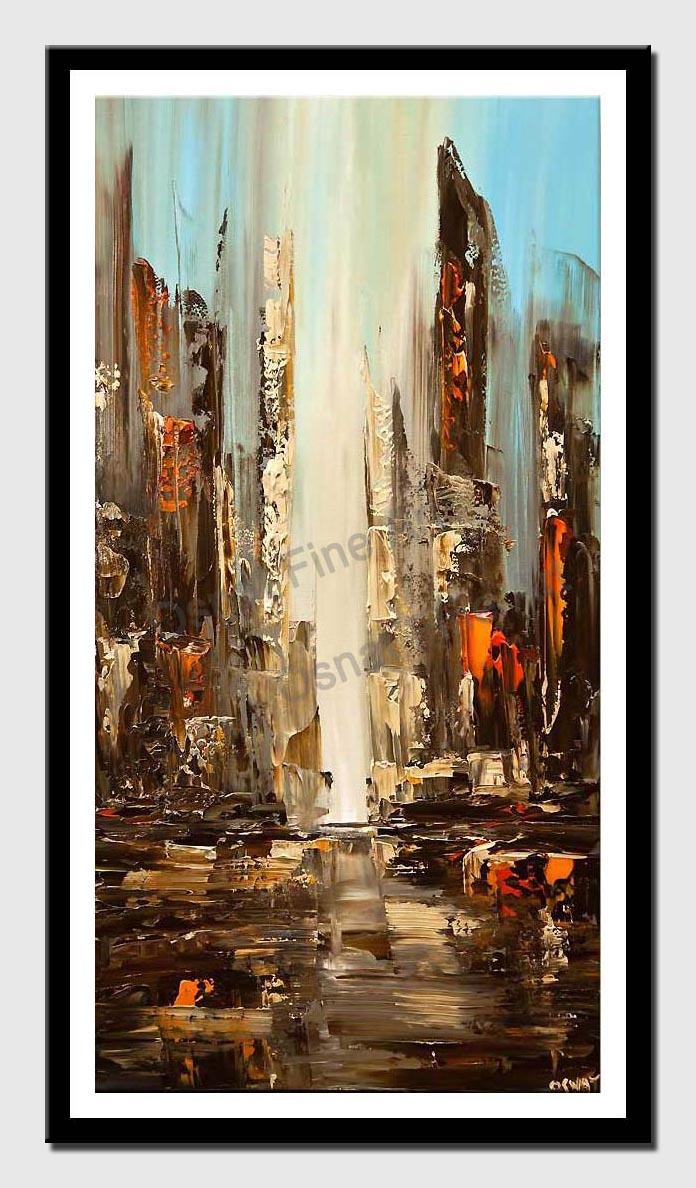 canvas print of city view abstract painting