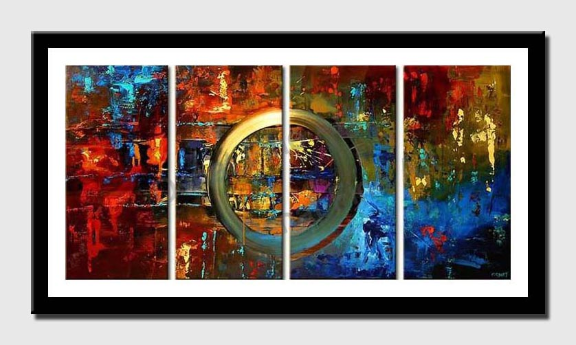 modern colorful painting multi panel decor