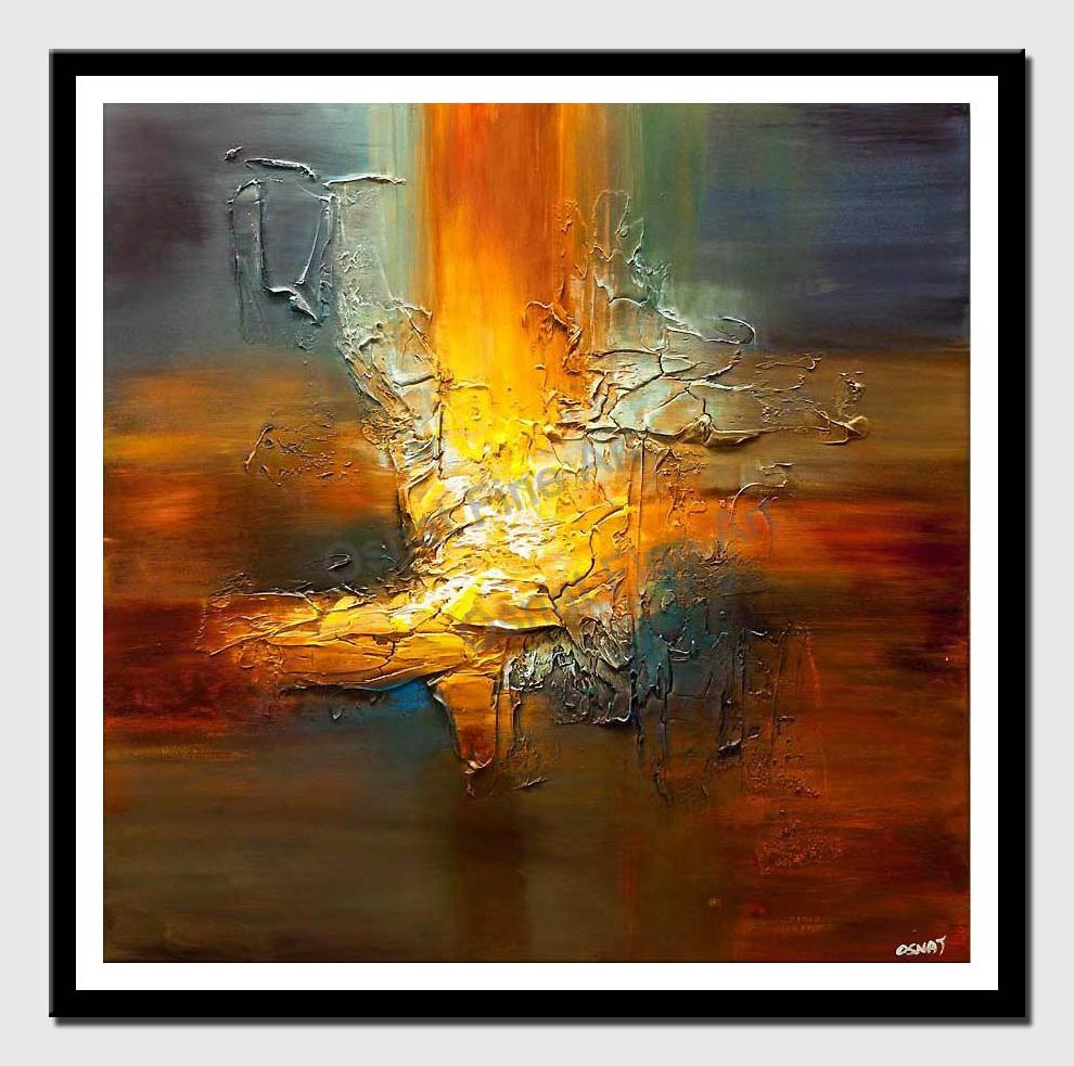 canvas print of modern texture abstract art palette knife painting