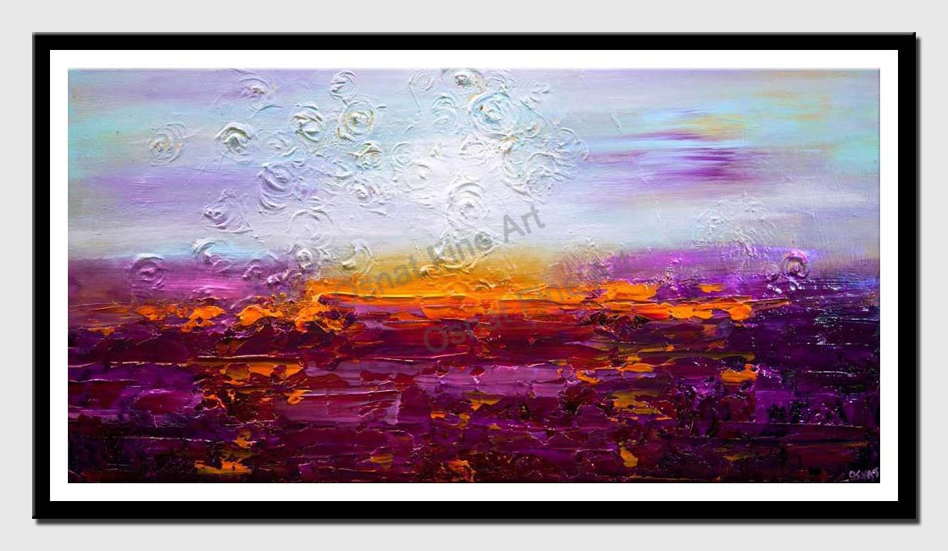 canvas print of purple lavendar field painting