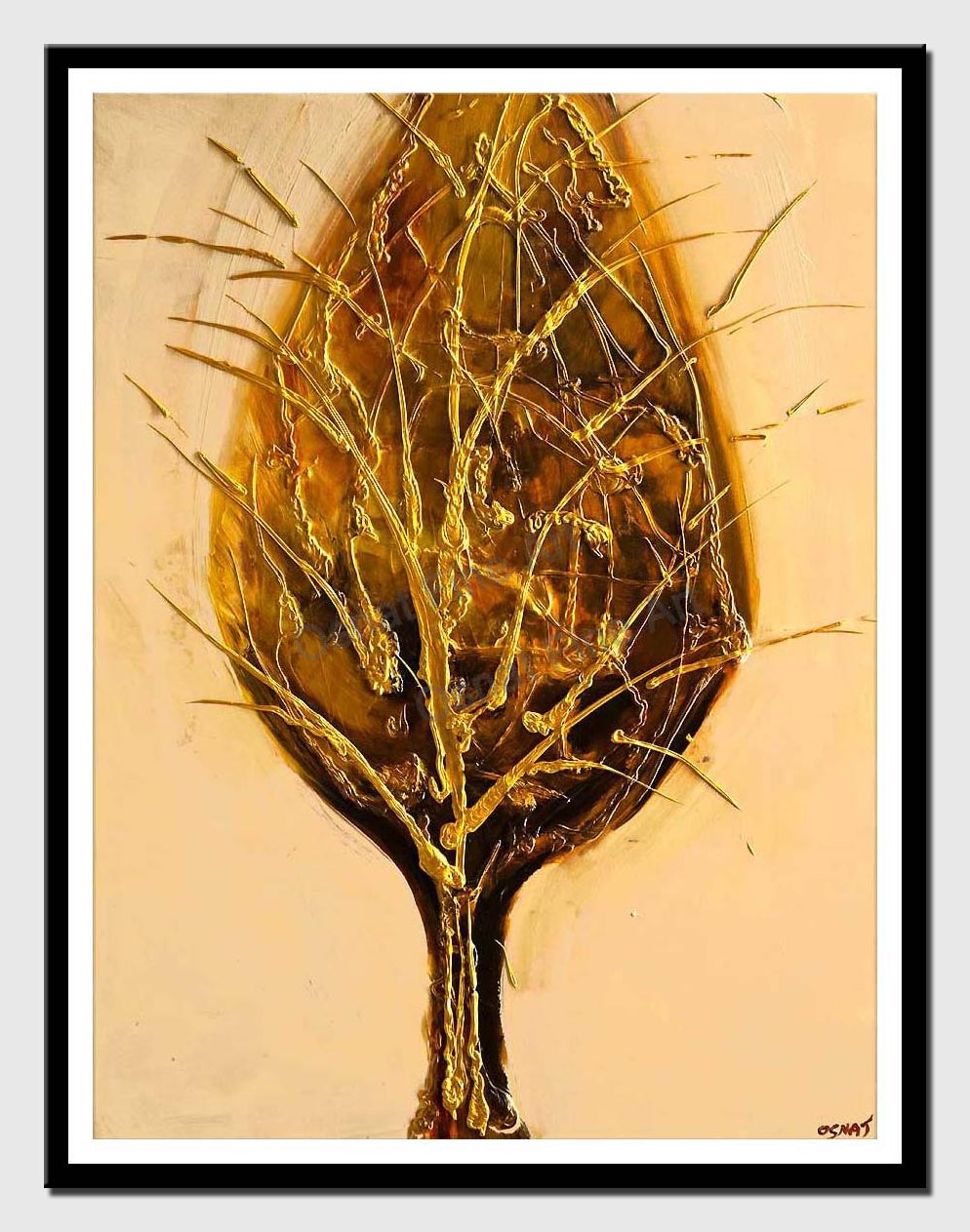 canvas print of golden tree painting