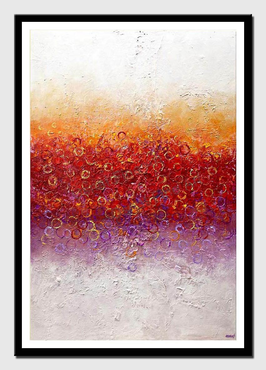 canvas print of big modern colorful abstract art