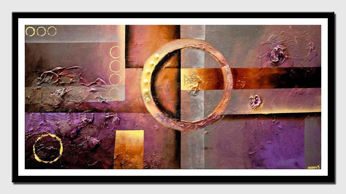 canvas print of gray purple modern textured abstract art
