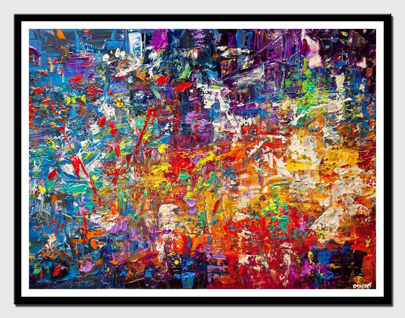 canvas print of modern colorful abstract art