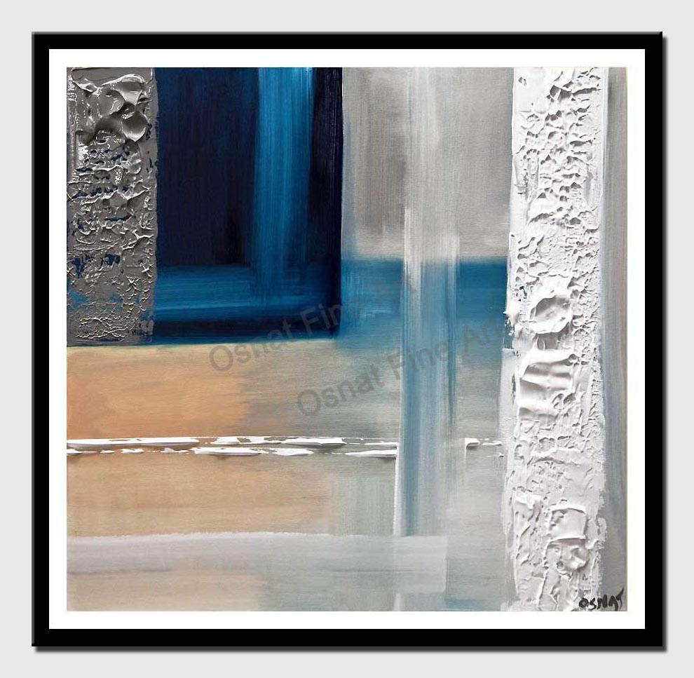 canvas print of modern blue painting