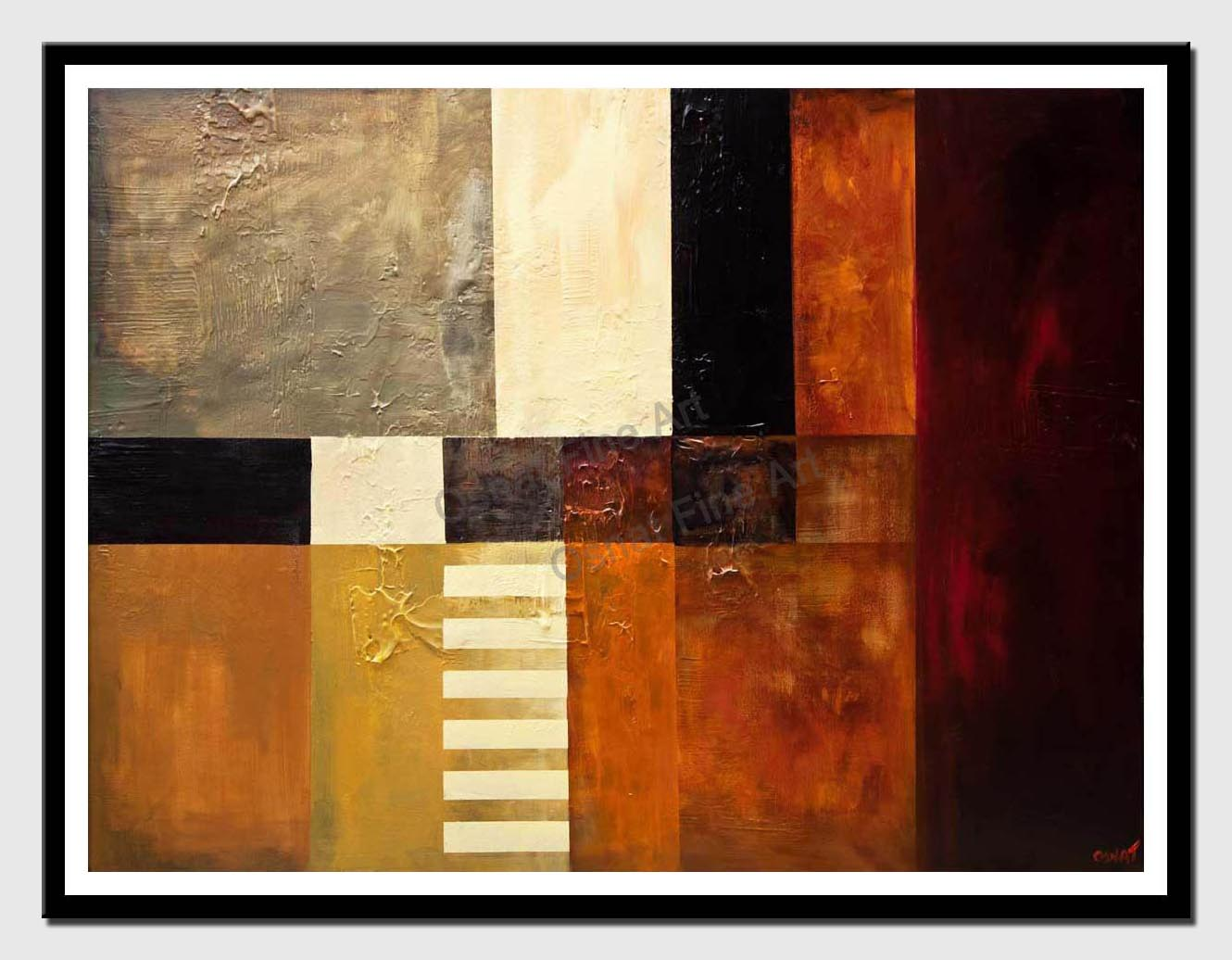 canvas print of big modern abstract painting