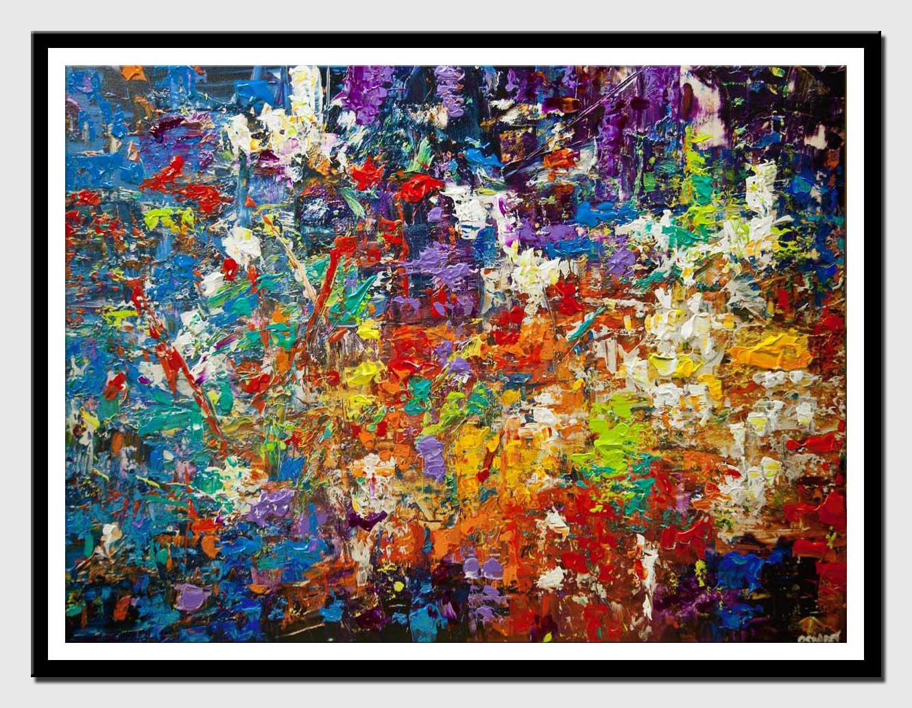 canvas print of colorful textured abstract art
