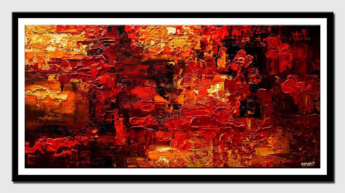 canvas print of red abstract art