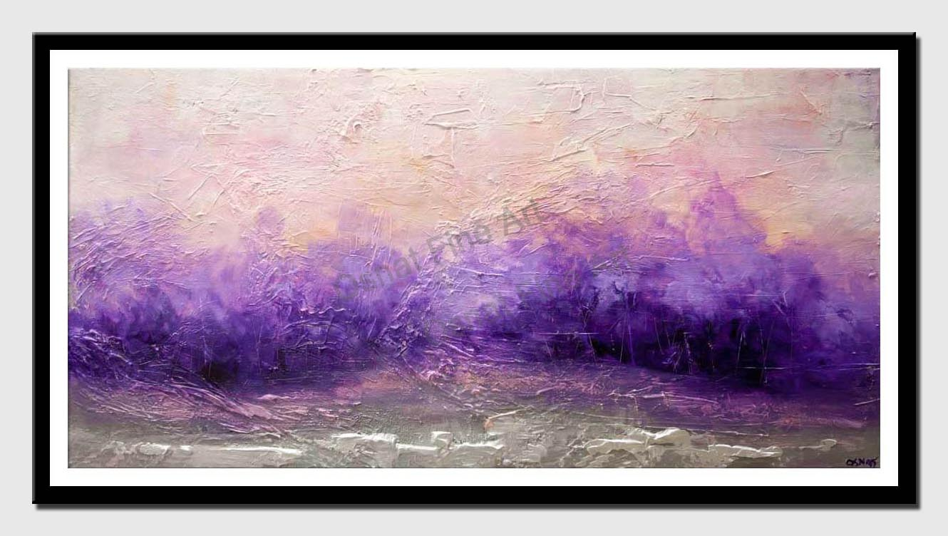 canvas print of purple landscape abstract painting