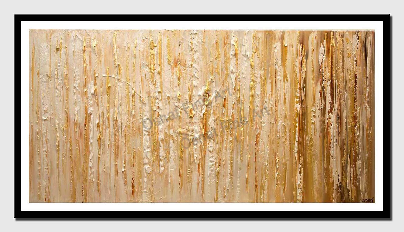 canvas print of gold textured abstract art