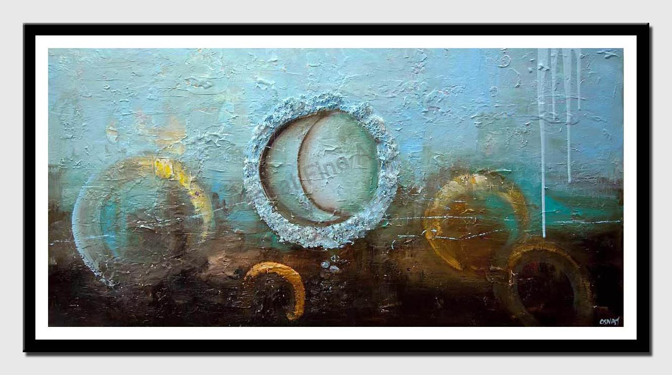 canvas print of light blue modern textured abstract painting