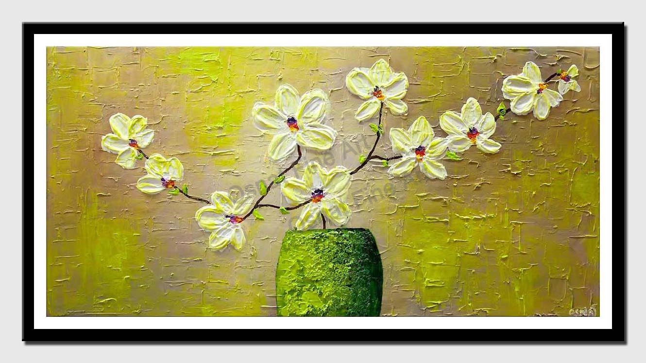 canvas print of white orchide painting