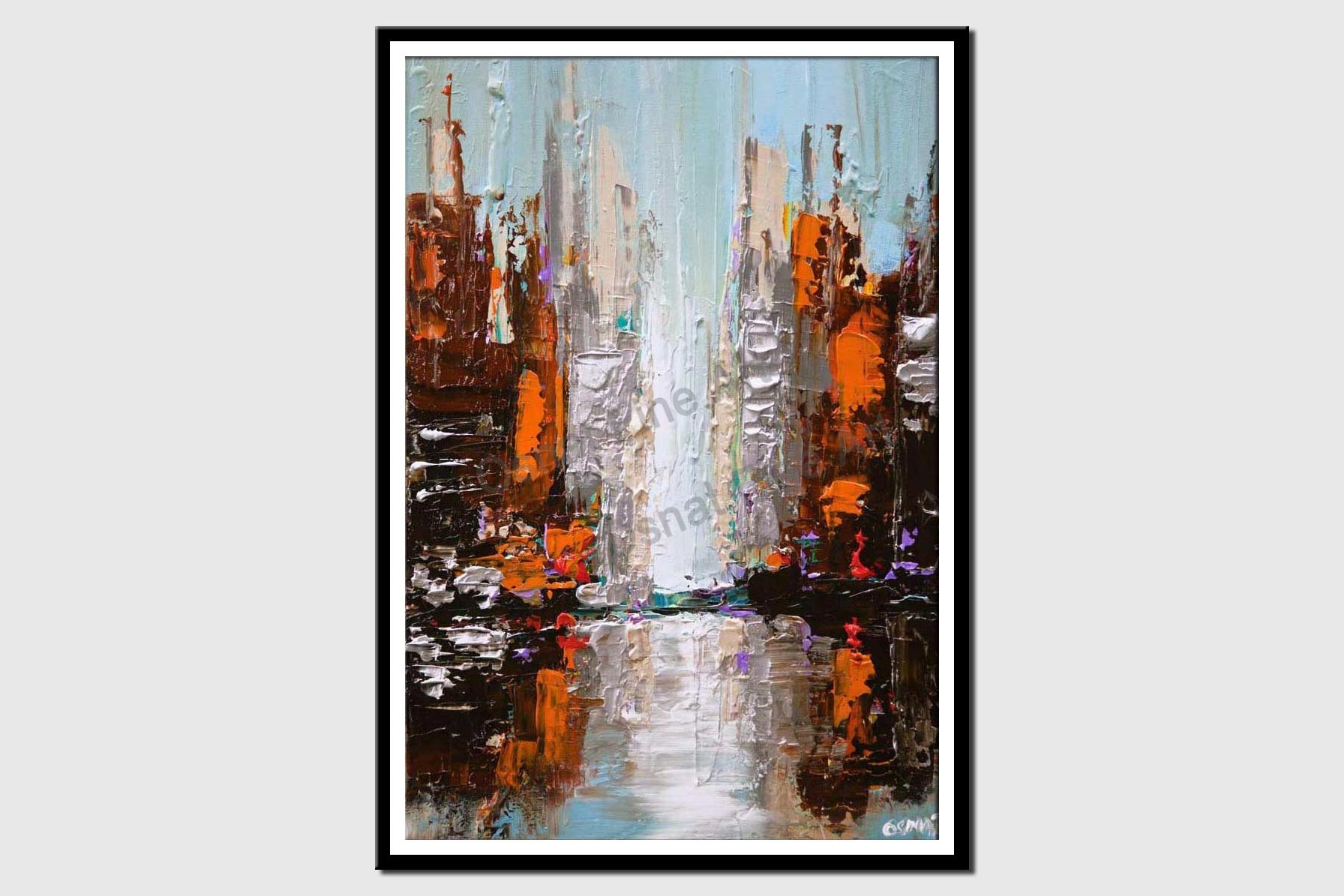 canvas print of cityscape painting city abstract art