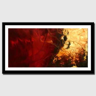 canvas print of red original hand made art