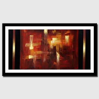 canvas print of red and gold abstract