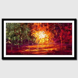 canvas print of textured forest painting
