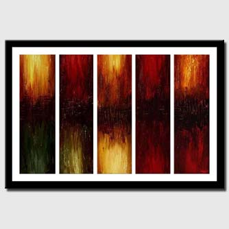 canvas print of large home decor painting