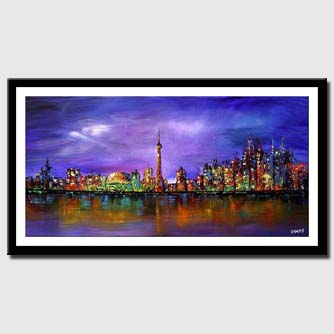 canvas print of toronto skyline