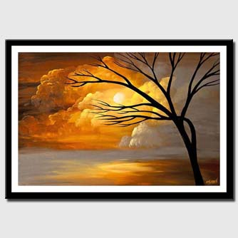 canvas print of painting of the day of creation