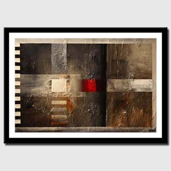 canvas print of abstract with red dot