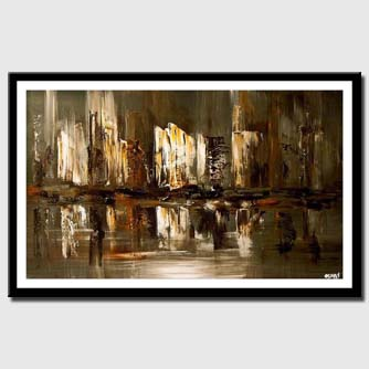 canvas print of abstract skyscrapers