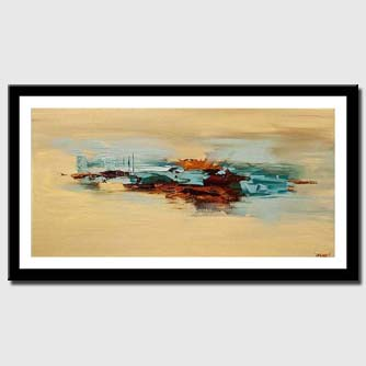 canvas print of abstract painting in sandy and brown colors