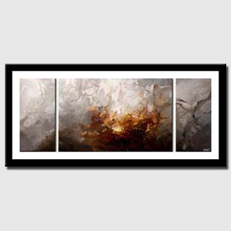 canvas print of triptych modern home decor art