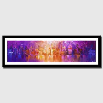 canvas print of horizontal painting of new york skyline