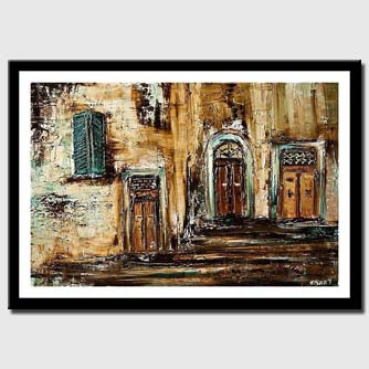 canvas print of typical street in jaffa