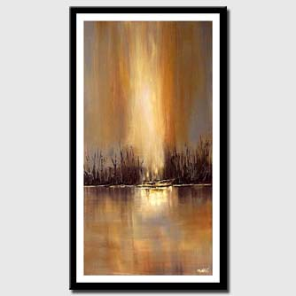 canvas print of river meadow vertical painting