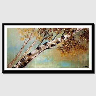 canvas print of birch tree reaching to the sky