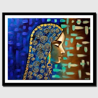 canvas print of abstract portrait painting modern palette knife