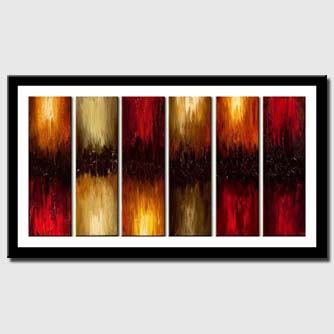 canvas print of huge abstract painting textured