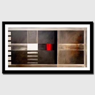 canvas print of geometric contemporary abstract art modern painting