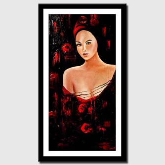 canvas print of sensual womanl figure nude painting