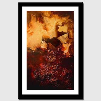 canvas print of vertical abstract in red and brown