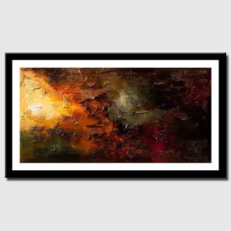 canvas print of big contemporary abstract painting textured