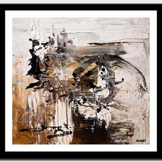canvas print of white abstract painting