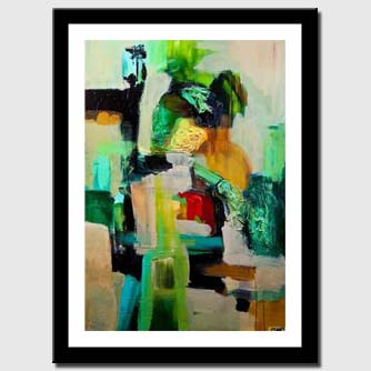 canvas print of contemporary abstract art home decor wall hangingt