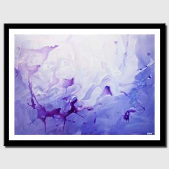 canvas print of contemporary purple blue abstract art home decor