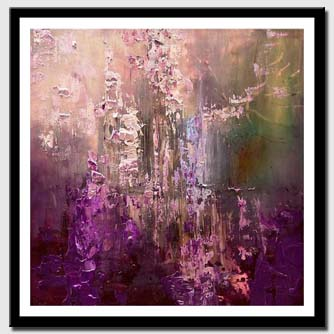 canvas print of purple abstract art modern palette knife