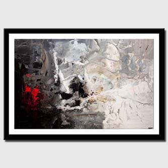canvas print of black white abstract art