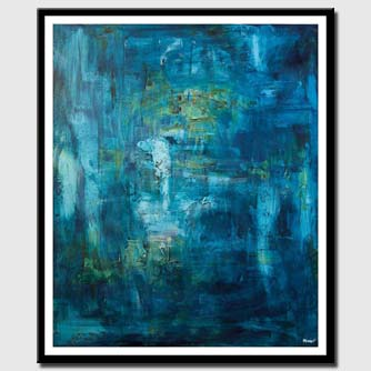 canvas print of blue textured abstract art home decor